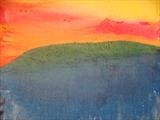 Afterglow at sunset, Sierra Leone. Feb 2010 by Jeff Hoare, Painting, Acrylic on canvas
