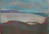 Agincourt sound Sardinia by Jeff Hoare, Drawing, Pastel on Paper
