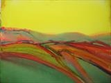 Dawn over Solomiac by Jeff Hoare, Painting, Acrylic on canvas
