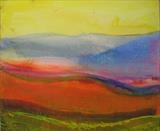 Gascon hills by Jeff Hoare, Painting, Acrylic on canvas