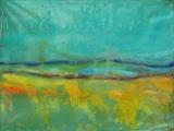 Landscape morning skies by Jeff Hoare, Painting, Acrylic on canvas