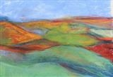 Midi-Pyrenees 005 by Jeff Hoare, Drawing, Pastel on Paper