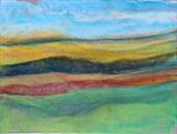 Midi-Pyrenees 009 by Jeff Hoare, Drawing, Pastel on Paper