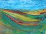 Midi-Pyrenees 011 by Jeff Hoare, Drawing, Pastel on Paper