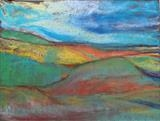 Midi-Pyrenees 012 by Jeff Hoare, Drawing, Pastel on Paper