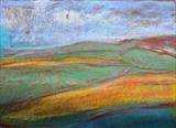 Midi-Pyrenees 013 by Jeff Hoare, Drawing, Pastel on Paper