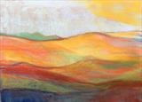 Midi-Pyrenees 015 by Jeff Hoare, Drawing, Pastel on Paper
