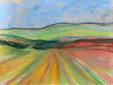 Midi-Pyrenees 016 by Jeff Hoare, Drawing, Pastel on Paper