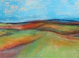 Midi-Pyrenees 018 by Jeff Hoare, Drawing, Pastel on Paper