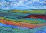 Midi-Pyrenees 019 by Jeff Hoare, Drawing, Pastel on Paper