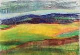 Midi-Pyrenees 070 by Jeff Hoare, Drawing, Pastel on Paper