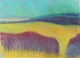 Midi-Pyrenees 072 by Jeff Hoare, Drawing, Pastel on Paper