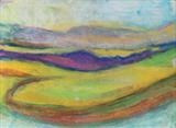 Midi-Pyrenees 074 by Jeff Hoare, Drawing, Pastel on Paper