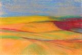 Midi-Pyrenees 076 by Jeff Hoare, Drawing, Pastel on Paper