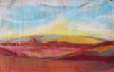 Midi-Pyrenees 080 sunset by Jeff Hoare, Drawing