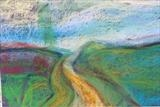 Midi-Pyrenees by Jeff Hoare, Drawing, Pastel on Paper