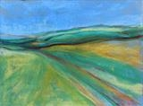 Midi-pyrenees 017 by Jeff Hoare, Drawing, Pastel on Paper