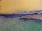 Sea painting: Folkestone shingle beach by Jeff Hoare, Painting, Acrylic on canvas