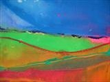Springscape, Midi-Pyrenees, March 2010 by Jeff Hoare, Painting, Acrylic on canvas